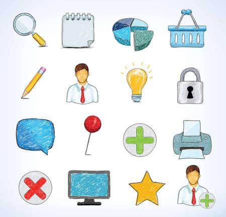illustartion: hand drawn icons, vector illustartion