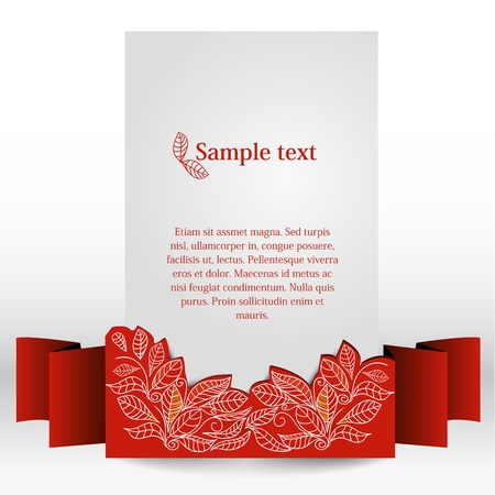 flower card: decorative banner, vector illustration