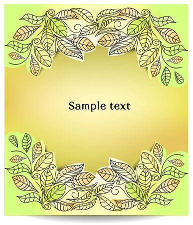 greeting card, vector illustration Vector