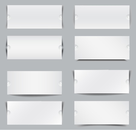 cut paper: Blank templates for web banner Illustration