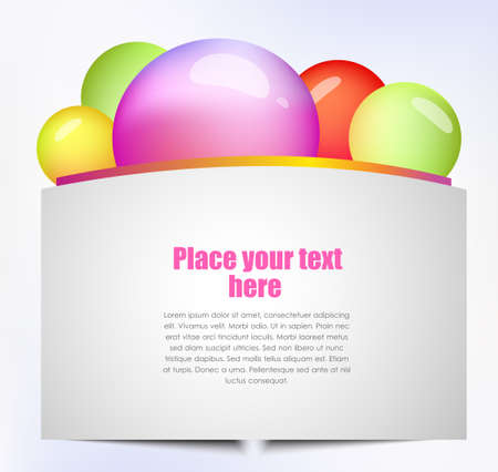 word balloon: Colorful text box