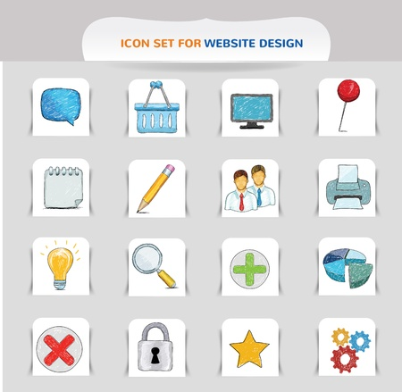 speach: hand drawn icon for web, vector Illustration