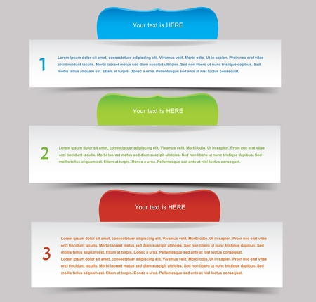 text box: Web banner set