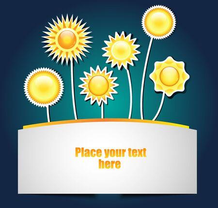 suny: sunny banner Illustration
