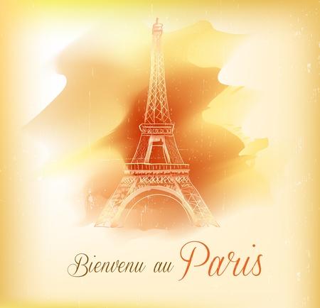 Card from Paris, vector Vector