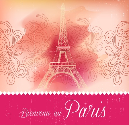 Greeting card from Paris Vector