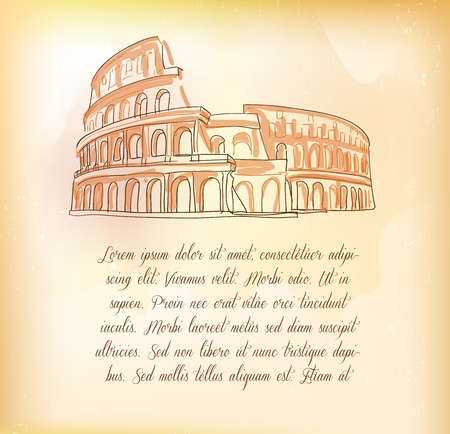 Post card, Roma Vector