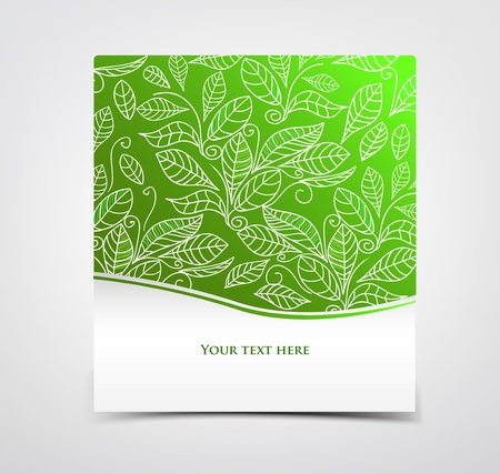 Green card illustration Vector
