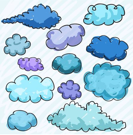Hand drawn clouds Stock Vector - 13559347