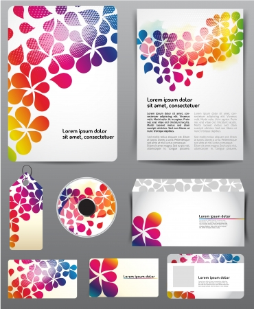folder design: Abstract template Illustration