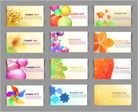 Business cards collection Stock Vector - 13864211