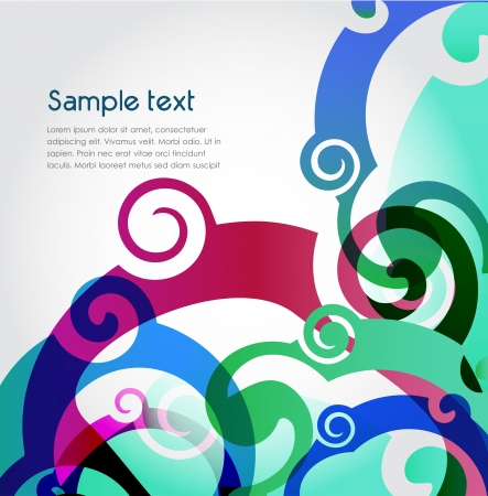 Blue background, vector Vector