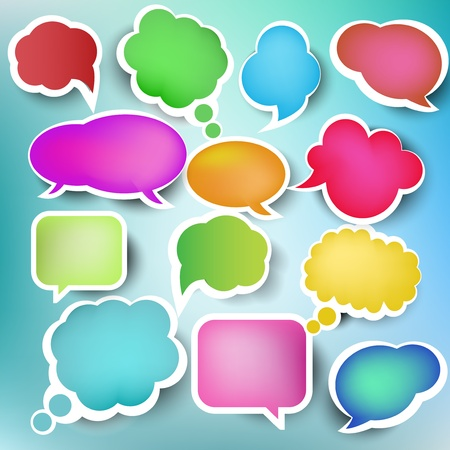 illustrates: Speech bubbles, vector Illustration