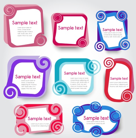text background: labels, vector