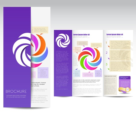 brochure design, Vector