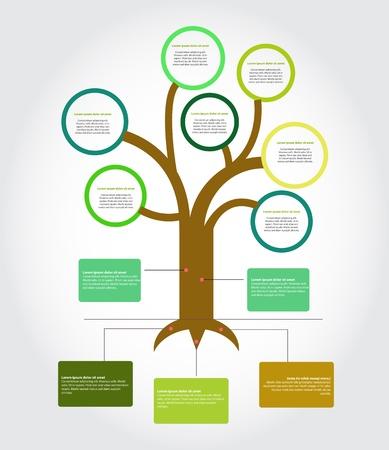 Diagrama de árbol, Ilustración de vector