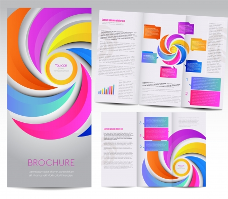 brochure design: Tri-fold brochure design Illustration