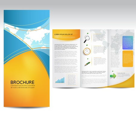 brochure template: Brochure Layout Design Template Illustration
