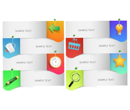 job deadline: text box with icons, vector Illustration