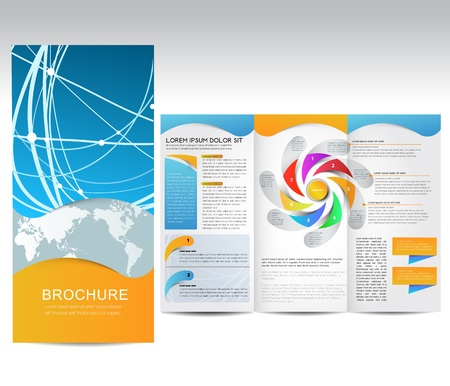 Vector Brochure, illustratie