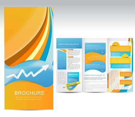 tri fold: Vector Brochure, illustration Illustration