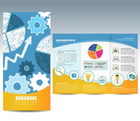 folleto: Folleto con elementos dibujados a mano Vectores