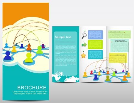 multilevel: Brochure con gli elementi disegnati a mano