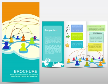 Brochure with hand drawn elements Illustration