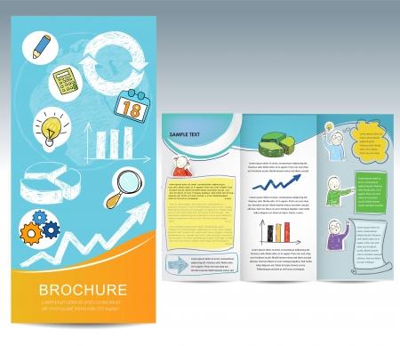 newletter: Brochure con gli elementi disegnati a mano