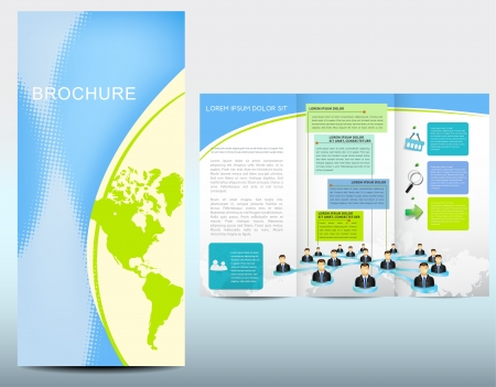 Business template for brochure Vector