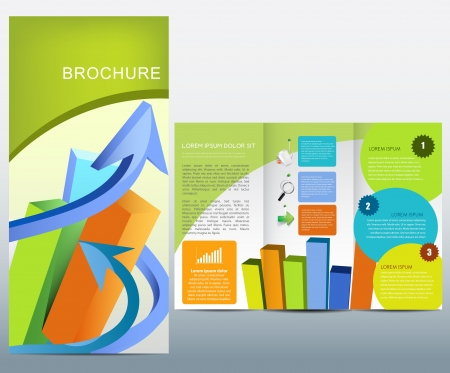 print template: Business brochure