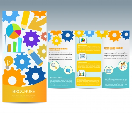 Template for advertising brochure Vector