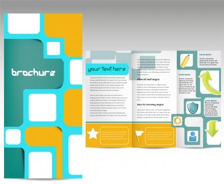 box template: Brochure design