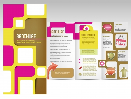 box template: Colorful template design for brochure
