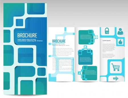 publications: Tri fold business brochure template Illustration