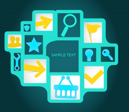 Template background concept with icons Vector