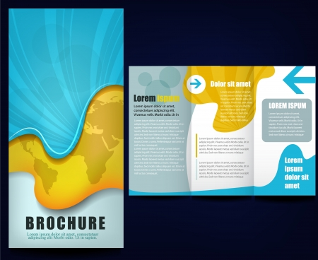 advertising brochure Vector