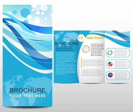 file folders: Blue design template