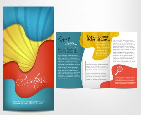 Broschüre Design Illustration