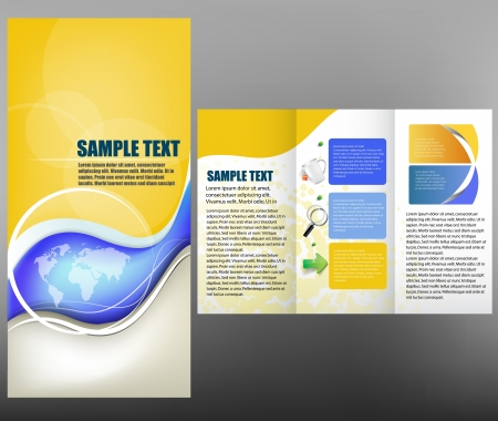 Brochure, template design Vector