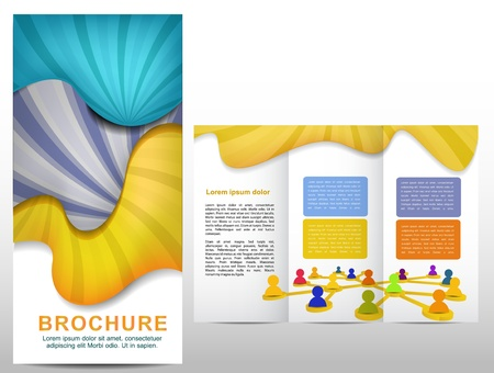 tri fold: Colorful brochure