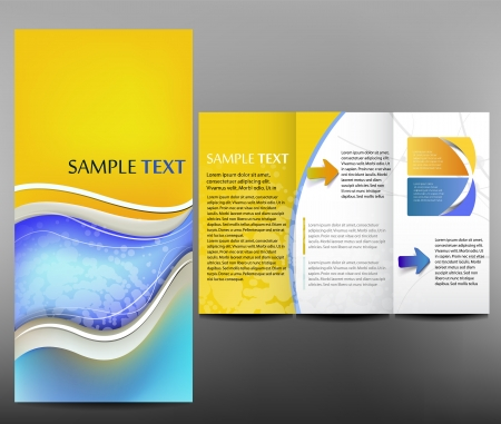 tri fold: Corporate business design, brochure Illustration