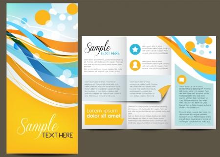 Broschüre Layout Design Illustration