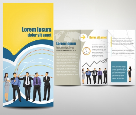 business flyer:  Brochure Layout Design Template