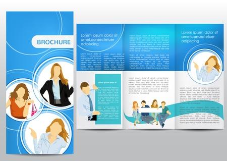 folleto: Folleto con las cifras de negocio