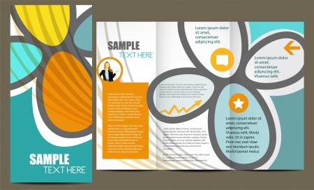 folleto: Plantilla para el folleto publicitario