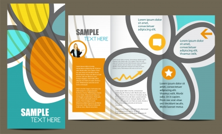 template: Template for advertising brochure