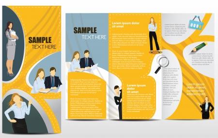 folleto: Las plantillas de folleto publicitario con empresarios Vectores