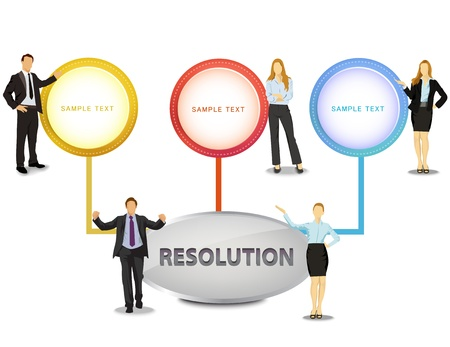 resolution, illustration Vector