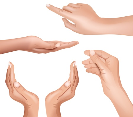 hand, collection Vector